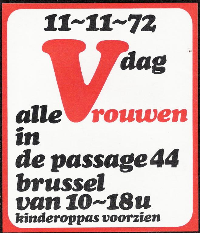 Sticker voor de vrouwendag in 1972