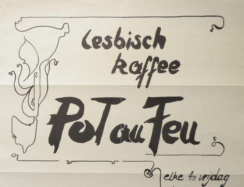 Affiche voor het Lesbische Kaffee Pot au Feu te Leuven (collectie AVG-Carhif)