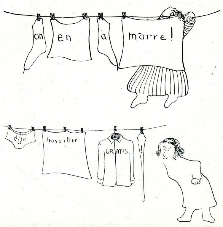 Tekening uit Le petit livre rouge des femmes, 1972 (collectie AVG-Carhif)