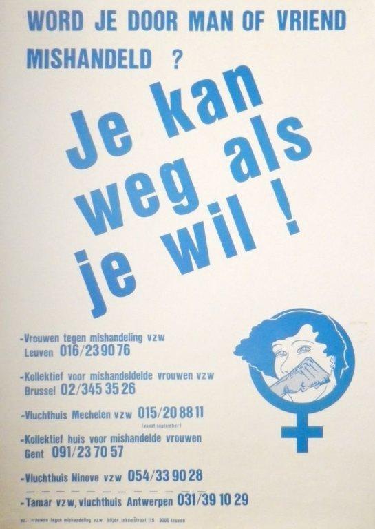 Affiche van de Federatie Vrouwen tegen Mishandeling, s.d. (collectie AVG-Carhif)