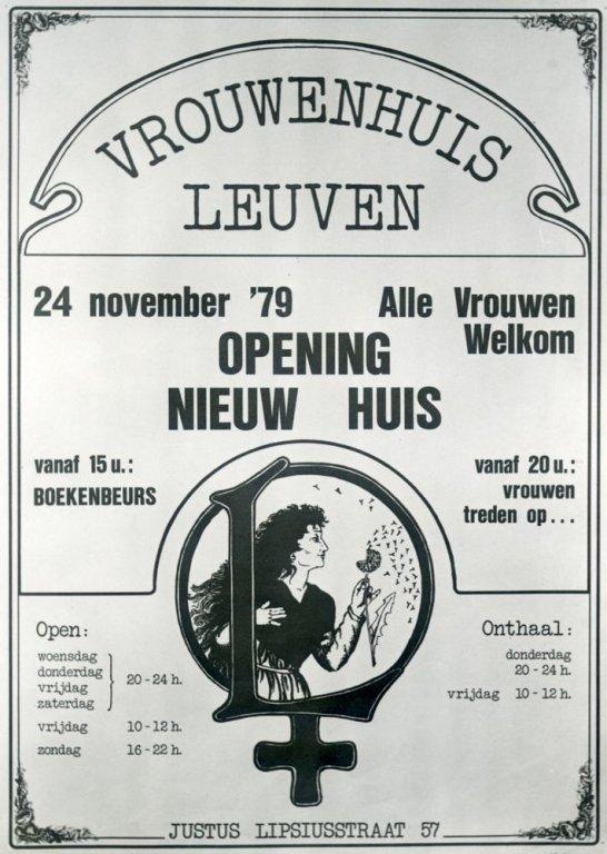 Affiche van het vrouwenhuis in Leuven, 1979 (collectie AVG-Carhif)