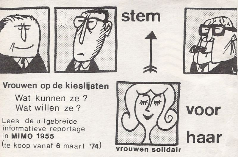 Stem vrouw-campagne van PAG, 1974 (collectie AVG-Carhif)