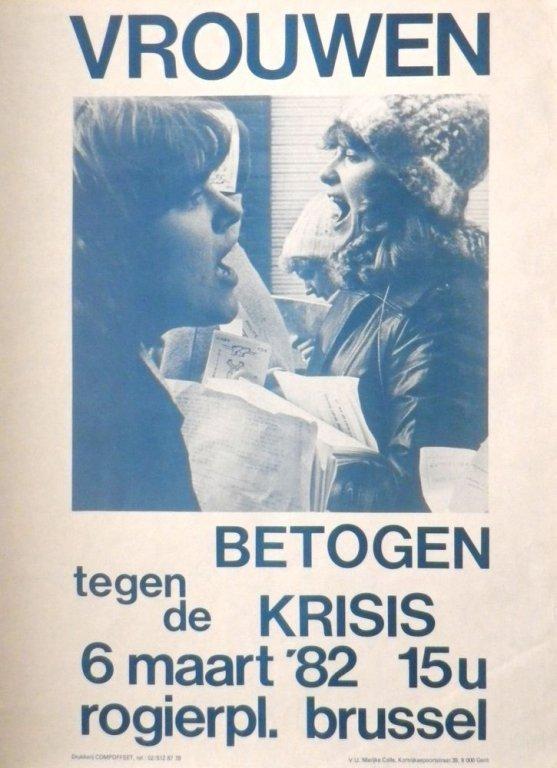Affiche voor een betoging van Vrouwen tegen de Krisis, 1981 (collectie AVG-Carhif)