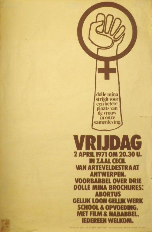Affiche van Dolle mina Antwerpen, 1971 (collectie AVG-Carhif)