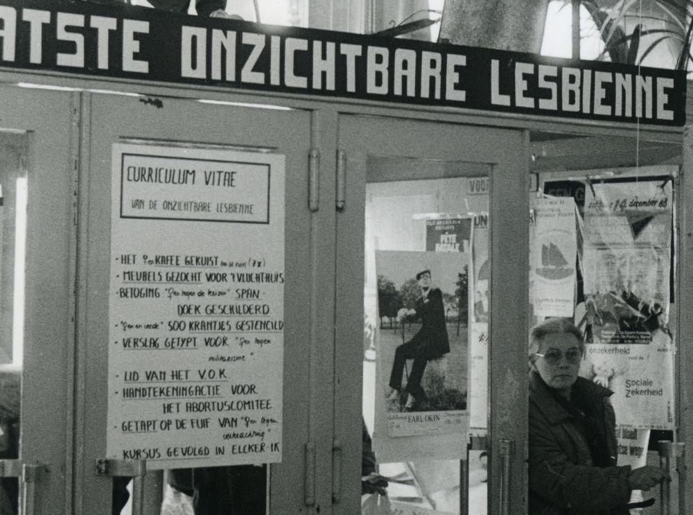 Vrouwendag in de Vooruit in Gent, 11 november 1985 (foto Riet Lacres, detail)