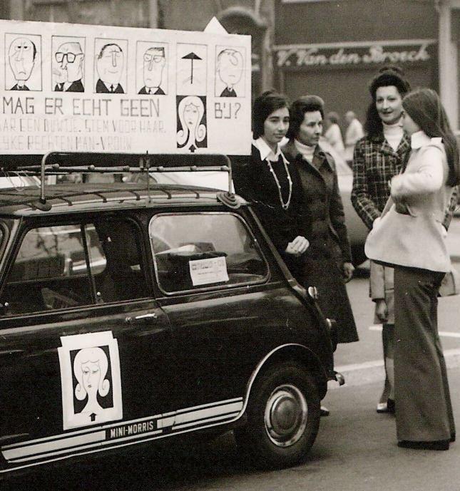 Stem vrouw-actie van PAG Mechelen, 1971 (collectie AVG-Carhif)