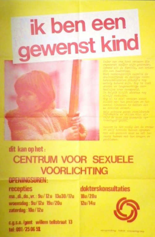 Affiche van het C.G.S.O. Gent, ca. 1976 (collectie AVG-Carhif)