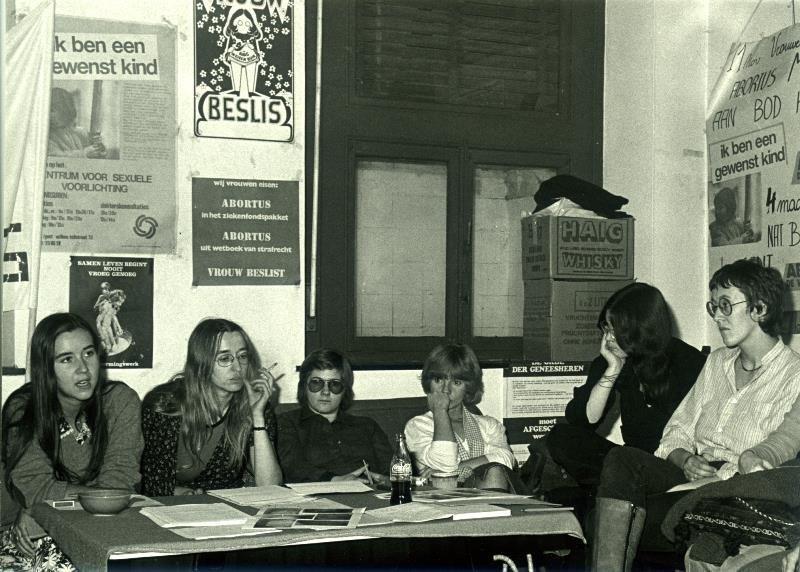 Vergadering van het Abortuskomitee in Gent, 1979 (collectie Greta Craeymeersch)