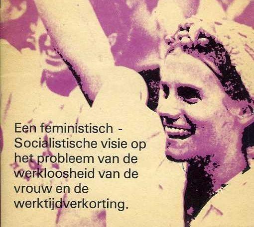 """Brochure van fem-soc """"Ze wou werk maar..."""", s.d. (collectie AVG-Carhif)"""