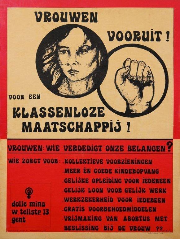 Affiche van Dolle Mina Gent, jaren 1970 (collectie Amsab-ISG)