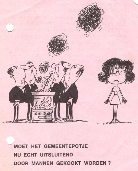 Pamflet van PAG voor een stem vrouwactie
