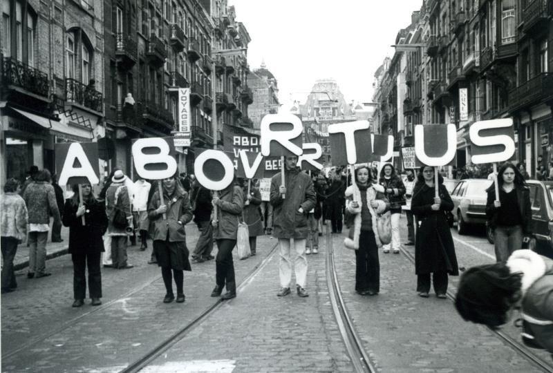 Abortusbetoging in Brussel, 31 maart 1979 (collectie Greta Craeymeersch)