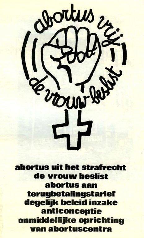 Brochure van het 4-maartkommittee (regionale coördinatie van de Vlaamse abortuscomités), 1978 (collectie AVG-Carhif)