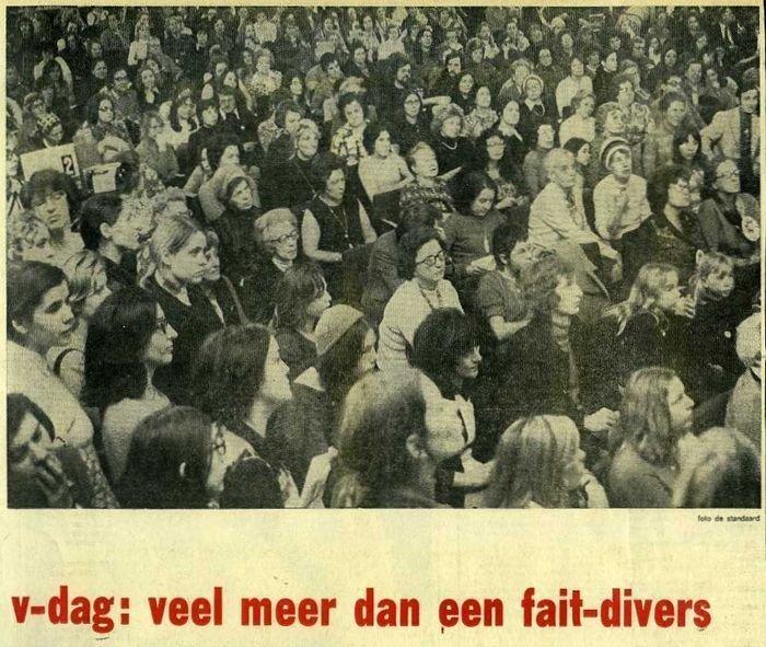 Verslag van de eerste Vrouwendag in De bond, 1972 (collectie AVG-Carhif, detail)