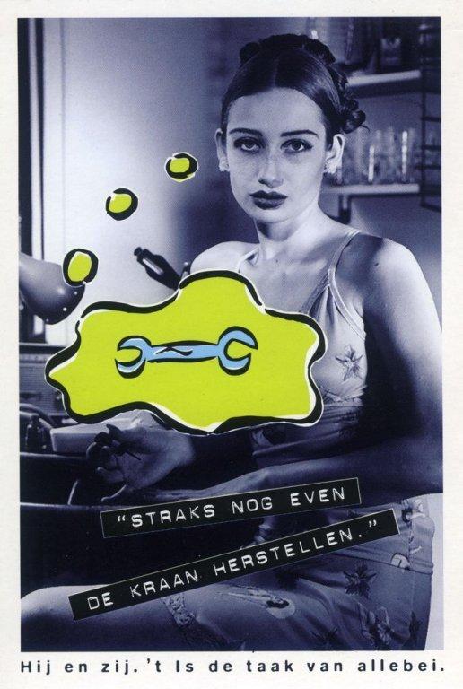 Campagne van de Minister van Gelijke-Kansenbeleid Miet Smet, 1995 (collectie AVG-Carhif)