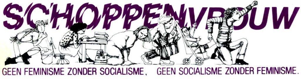 Schoppenvrouw, het tijdschrift van de fem-soc beweging (detail voorpagina, collectie AVG-Carhif)
