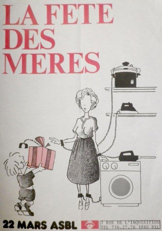 Affiche ter gelegenheid van moederdag van 22 Mars asbl (collectie AVG-Carhif)