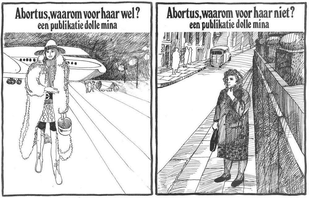 Pamflet van Dolle Mina voor abortus (collectie AVG-Carhif)